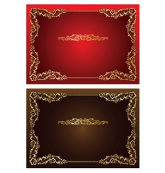 Frame and borders on seamless retro background vector image