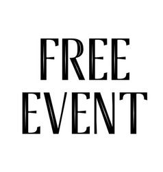Free event stamp typographic stamp vector