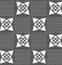 Geometrical Arabian ornament gray with doted vector