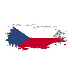 grunge brush stroke with czech republic national vector image