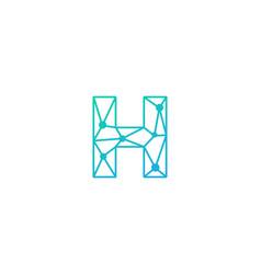 h letter network logo icon design vector image