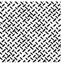 hand-drawn black and white seamless herringbone vector image