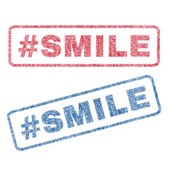 Hashtag smile textile stamps vector