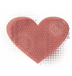 heart of love vector image