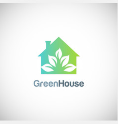 House green garden eco logo vector