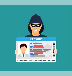 id card data phishing vector image