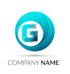 Letter g logo symbol in the colorful circle on vector