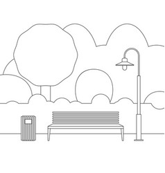 line outdoor furniture vector image