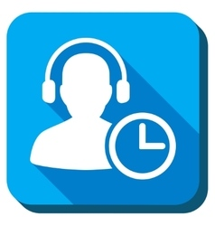 Manager Time Icon vector