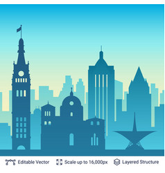 Milwaukee famous city scape vector