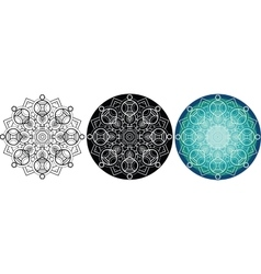 Natural mandala for coloring book Round pattern vector image