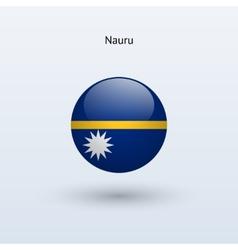 Nauru round flag vector image