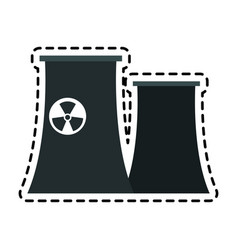 nuclear plant icon image vector image