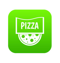 pizza badge or signboard icon digital green vector image