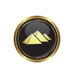 Pyramids icon vector