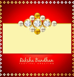 raksha bandhan festival vector image