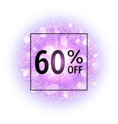 Sale banner 60 percent off vector