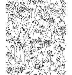 Seamless floral pattern flowers gypsophila vector