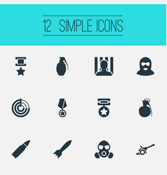 Set of simple conflict icons vector