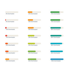 set progress bars vector image