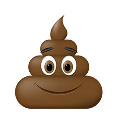 shit icon smiling face poop emoticon vector image