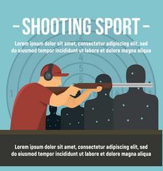 shooting indoor sport concept banner flat style vector image