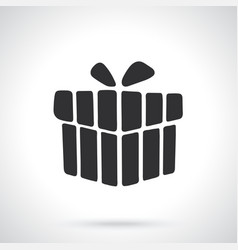 silhouette present box vector image