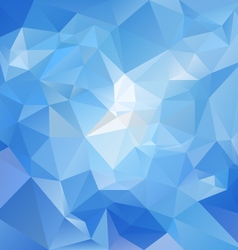 Sky blue polygon triangular pattern background vector