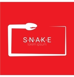Snake simple logo design element vector