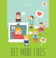 Social networking poster vector