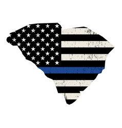 State south carolina police support flag vector