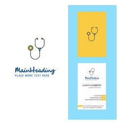 stethoscope creative logo and business card vector image