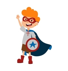 super hero boy cartoon character vector image