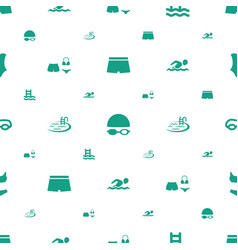 Swim icons pattern seamless white background vector
