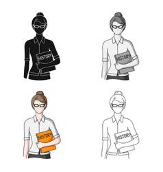 teacherprofessions single icon in cartoon style vector image