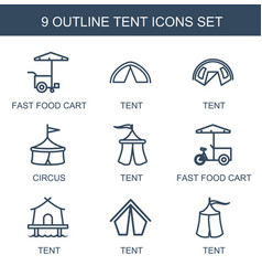 Tent icons vector