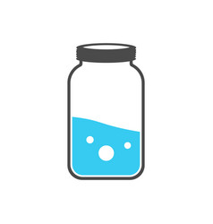 test tubes icon flask with blue liquid element vector image