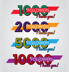 thank you followers image for social networks vector image