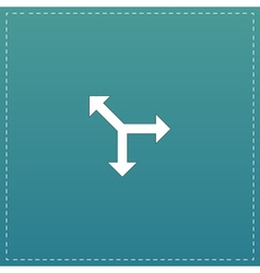 Three-way direction arrow vector image
