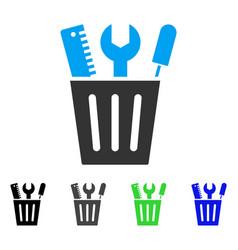 Tools bucket flat icon vector