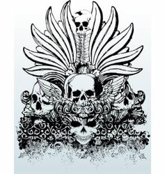 Tribal skull grunge illustration vector