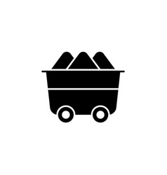 trolley mineral resource icon on white vector image