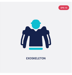 Two color exoskeleton icon from artificial vector