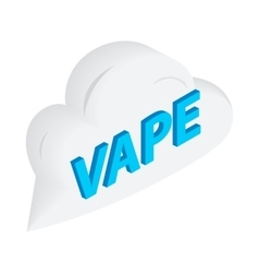 Vape word cloud icon isometric 3d style vector