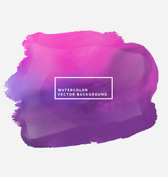 Water color brish stroke stain in pink and purple vector