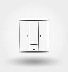 closet line vector image