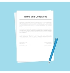 Contract or terms and conditions document isolated vector image