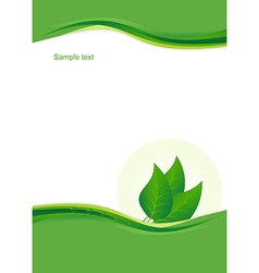 Eco background with leaves vector image vector image