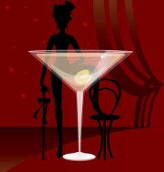 glass of vermouth vector image vector image