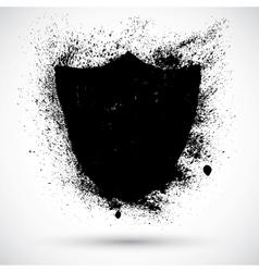 Grunge shield vector image vector image